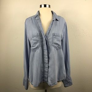 Chambray Button Down by Bella Dahl